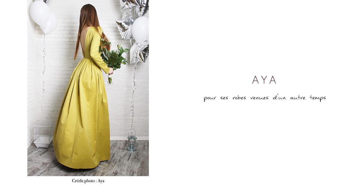 Aya : pour ses robes venues d'un autre temps