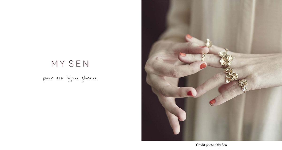 My Sen : pour ses bijoux floraux