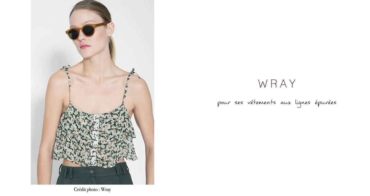 Wray : pour ses vêtements aux lignes épurées
