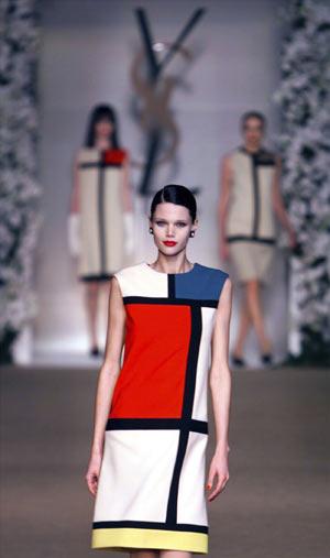 Robe Mondrian : Défilé Haute Couture Automne-Hiver 1965, Yves Saint Laurent