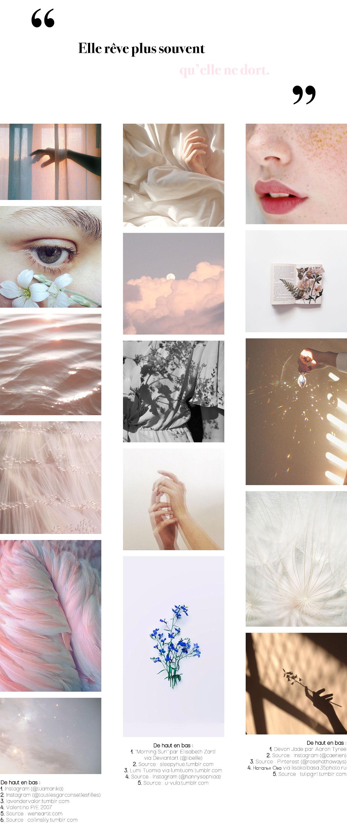 Moodboard des Inspirations Pinterest #7 : De la poésie et des rêveries