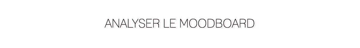 Analyser le moodboard
