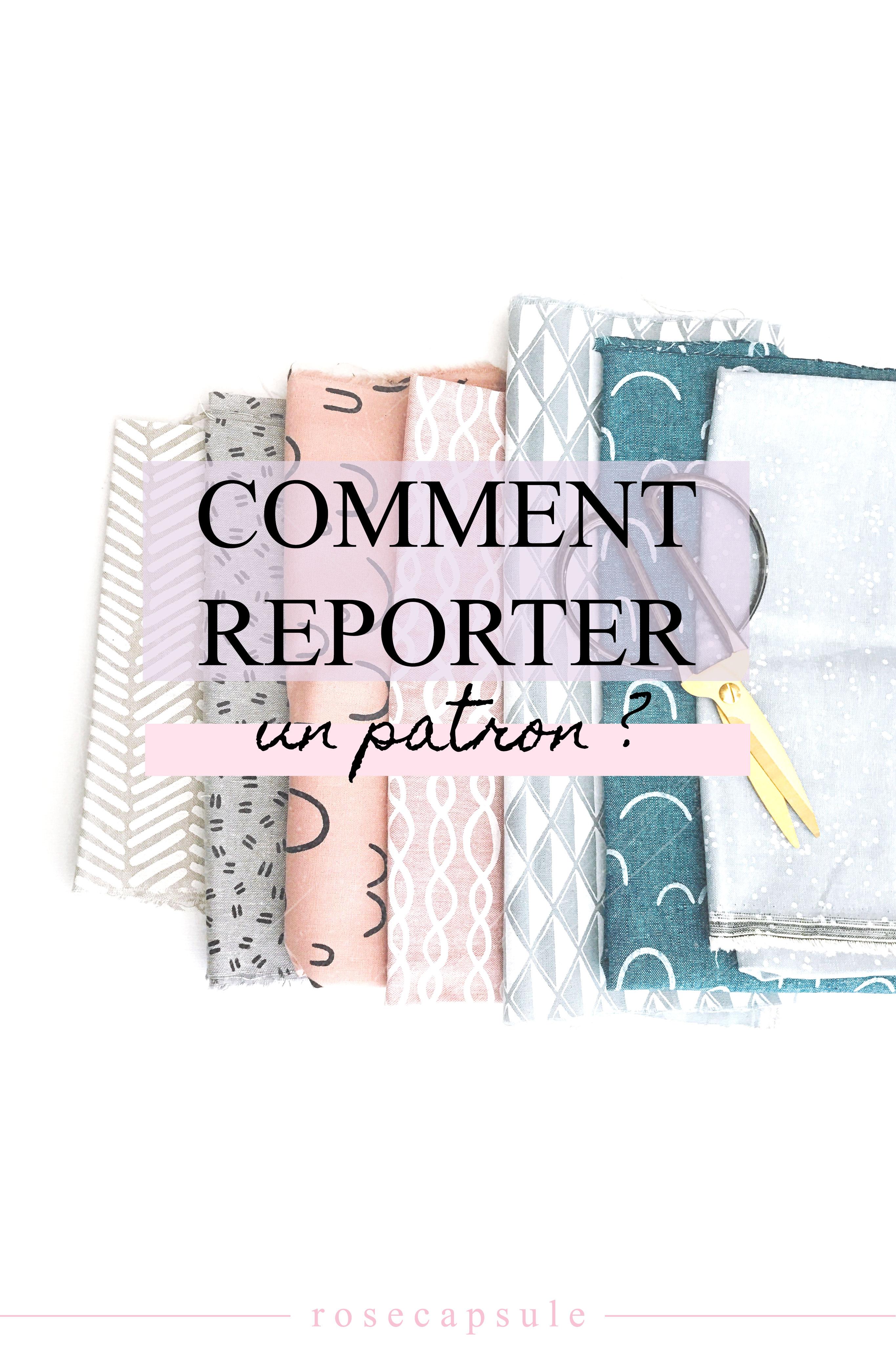 Comment reporter un patron ? #couture #couturefacile #patron