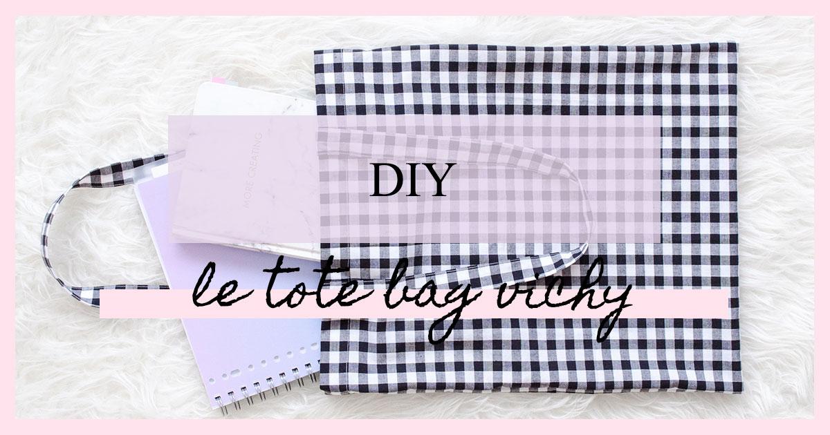 DIY : Le tote bag vichy