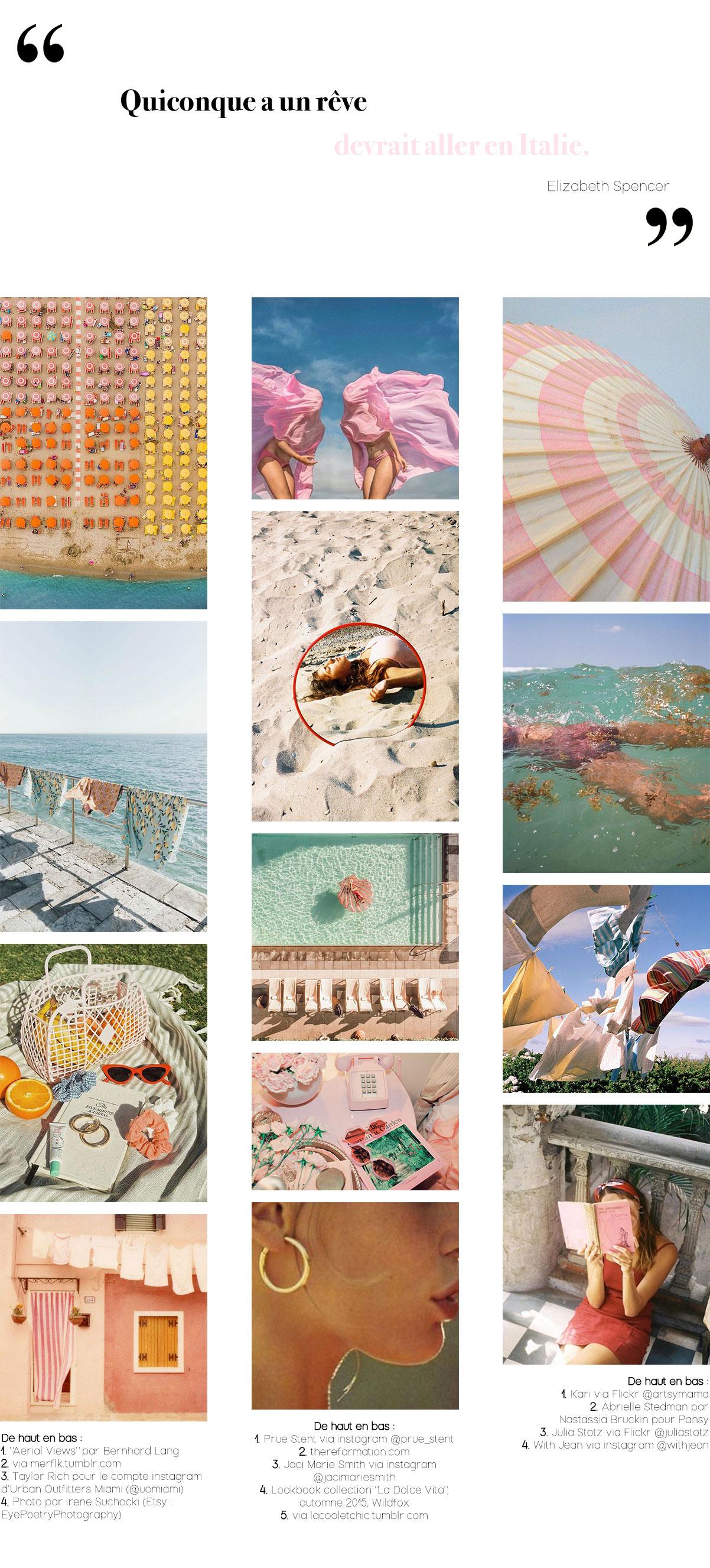 Moodboard Inspirations Pinterest 14 : La dolce vita