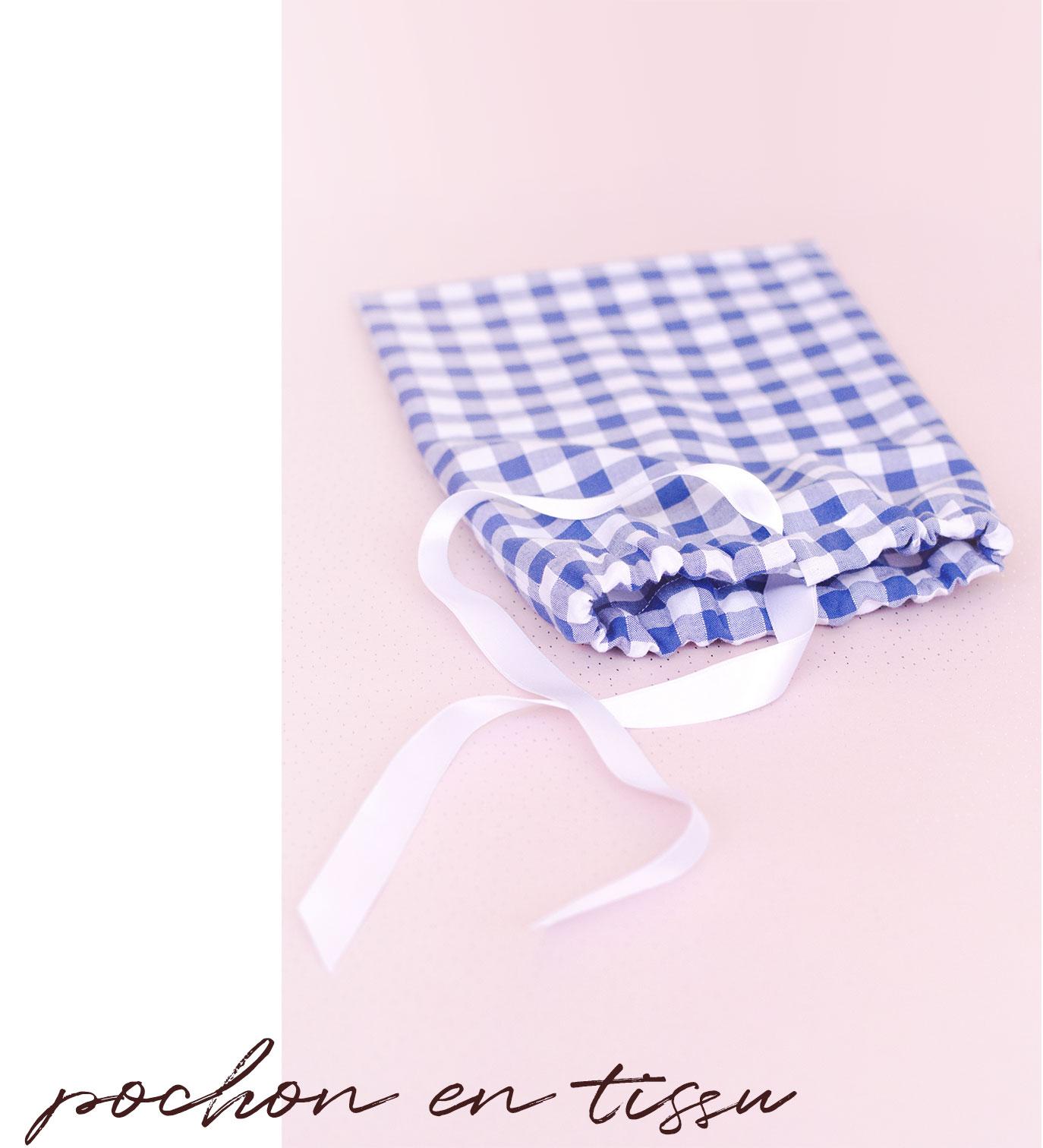 Pochon en tissu - 5 idées de projet couture pour débutant