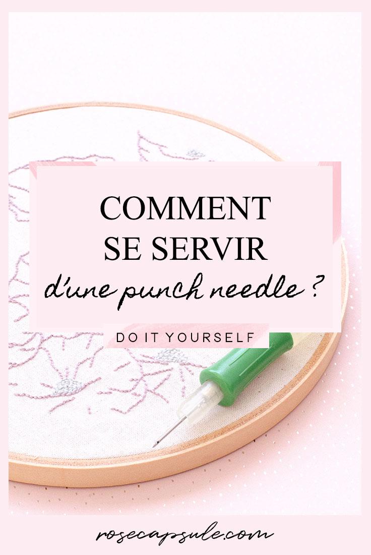 DIY : Comment se servir d'une punch needle ?