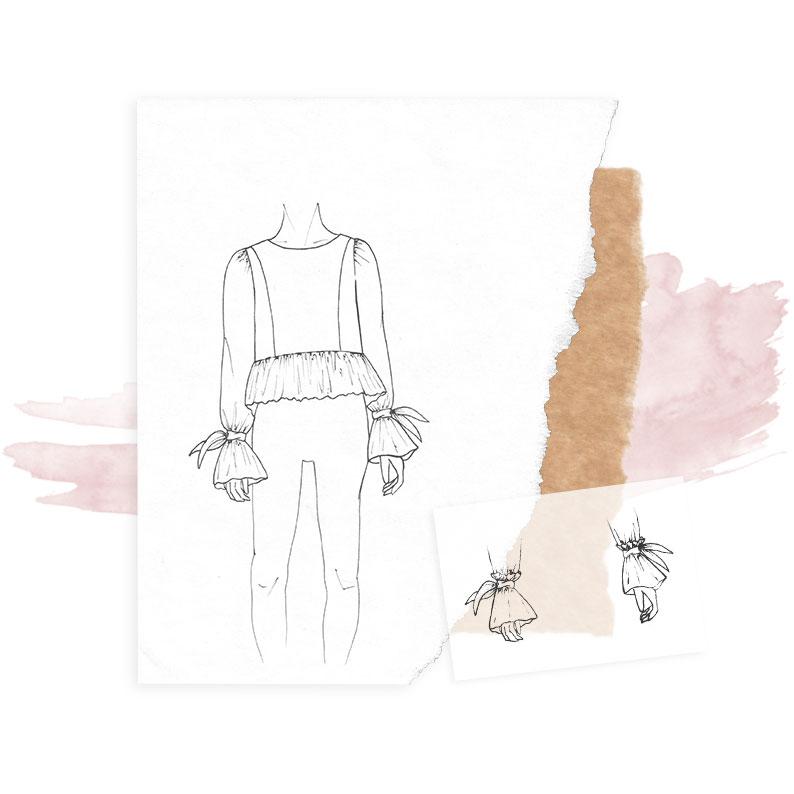 Un mois, une création : La blouse à volants